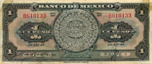 1 песо 1948 года (Мексика)