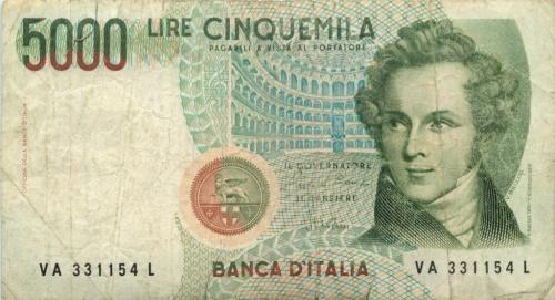 5000 лир 1985 года (Италия)