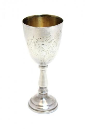 Фужер (серебрение, штихельный рисунок, 10,5 см)