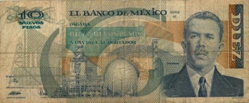 10 песо 1992 года (Мексика)