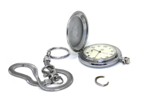 Часы карманные «Молния» (рабочие, сцепочкой) (СССР)