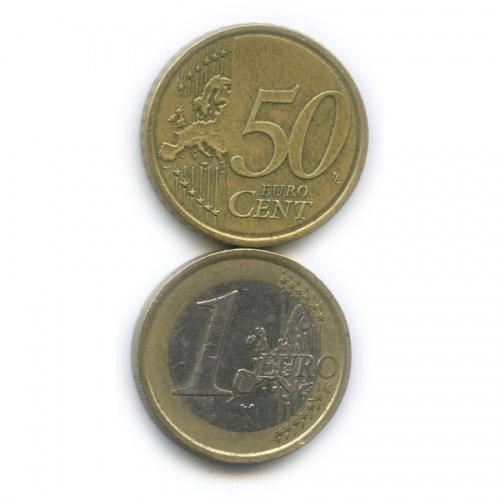 Набор монет (Италия, Словакия) 2003, 2009