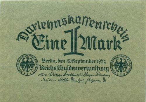 1 марка 1922 года (Германия)