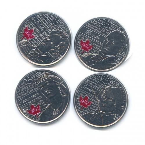 Набор монет 25 центов - Война 1812 года (взапайках) 2012, 2013 (Канада)