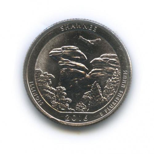 25 центов (квотер) - Национальный лес Шоуни - Штат Иллиноис 2016 года (США)