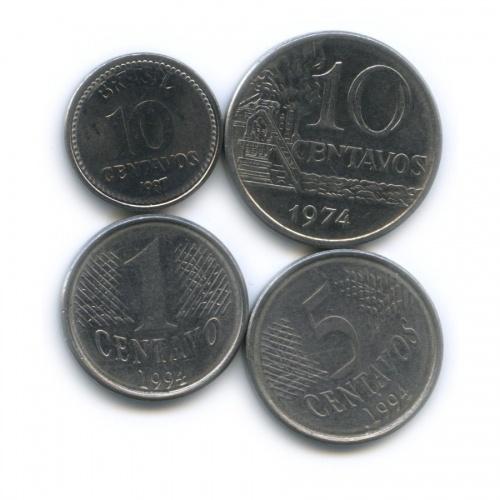 Набор монет 1987, 1994 (Бразилия)