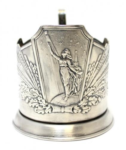 Подстаканник «Кзвездам» (мельхиор, клеймо «ЮМ1МЕТ 1 сорт») (СССР)