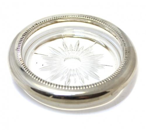 Икорница (серебрение, металл, стекло, клеймо, 10 см) (Италия)