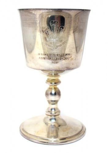 Бокал «HRH Prince Charles, Lady Diana Spencer 1981» («Barker Ellis», серебрение, 12 см) 1981 года (Великобритания)