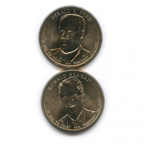Набор монет 1 доллар — Президенты США 2016 года Р, D (США)