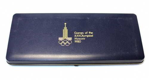 Футляр для монет «Игры XXII Олимпиады, Москва 1980»