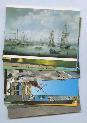 Набор почтовых открыток «Корабли» (разные страны, 15 шт.)