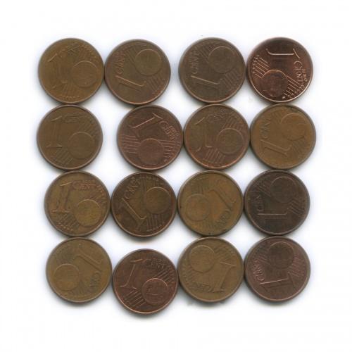 Набор монет 1 цент (разные страны)