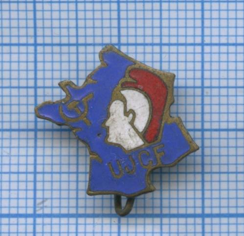 Знак «Союз коммунистической молодежи UJCF» (Франция)