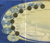 Набор жетонов метрополитена «50 лет метрополитену Санкт-Петербурга» 2005 года (Россия)
