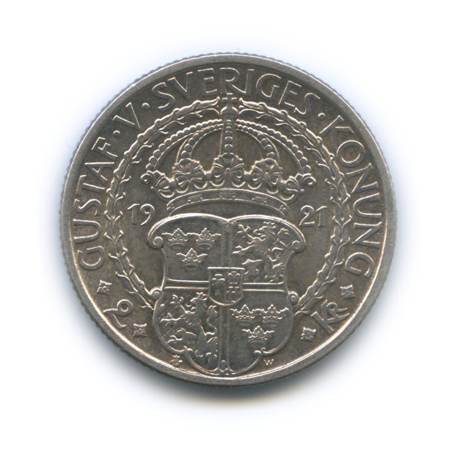 2 кроны — 400 лет Войне заНезависимость 1921 года (Швеция)