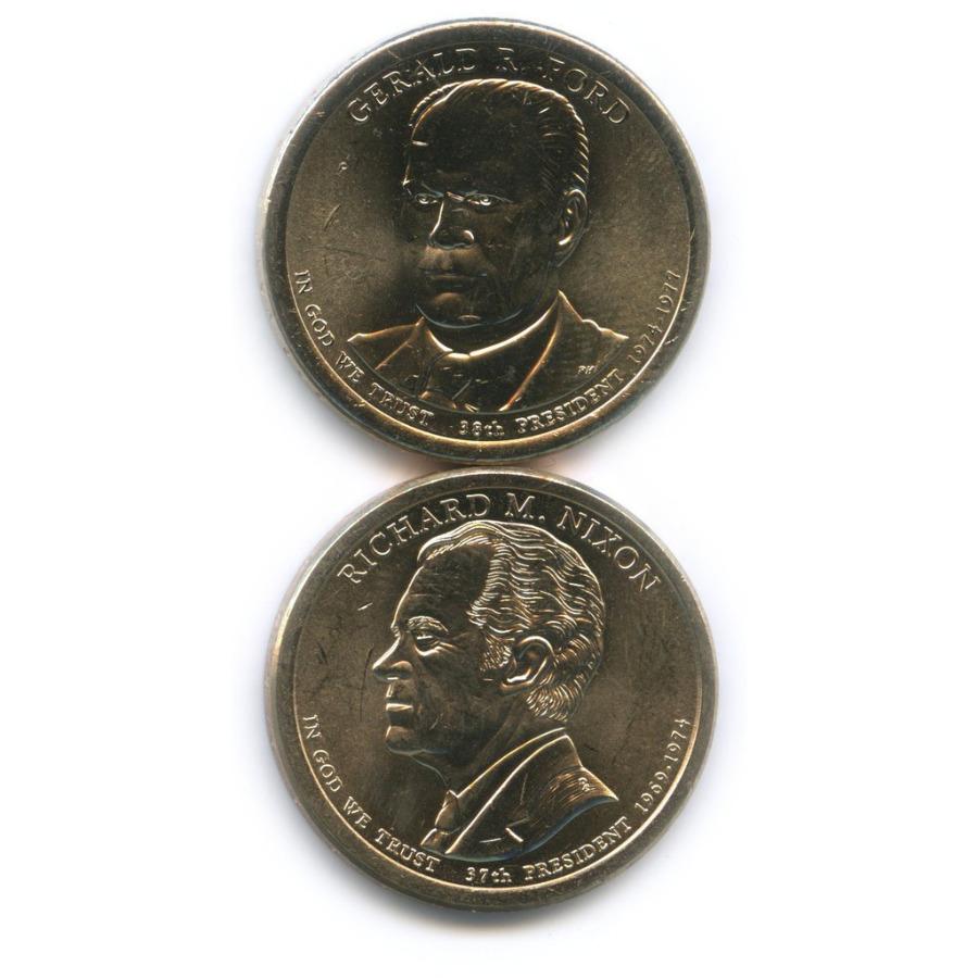 Набор монет 1 доллар - Президенты США 2016 года Р, D (США)
