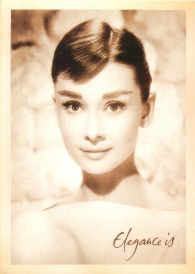 Карточка почтовая «Одри Хепбёрн» (копия)