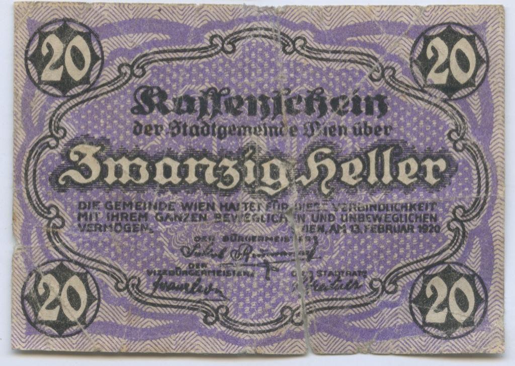 20 геллеров 1920 года (Австрия)