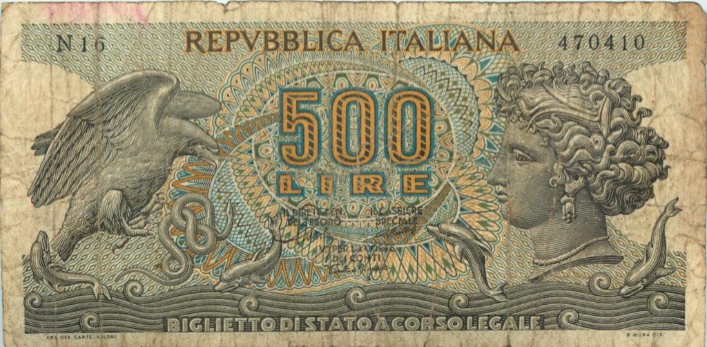 500 лир 1967 года (Италия)