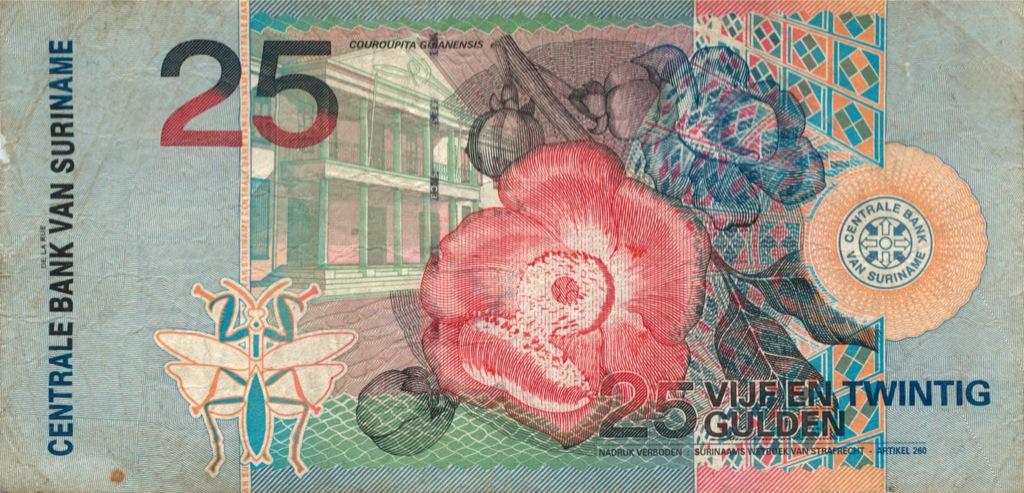 25 гульденов (Суринам) 2000 года