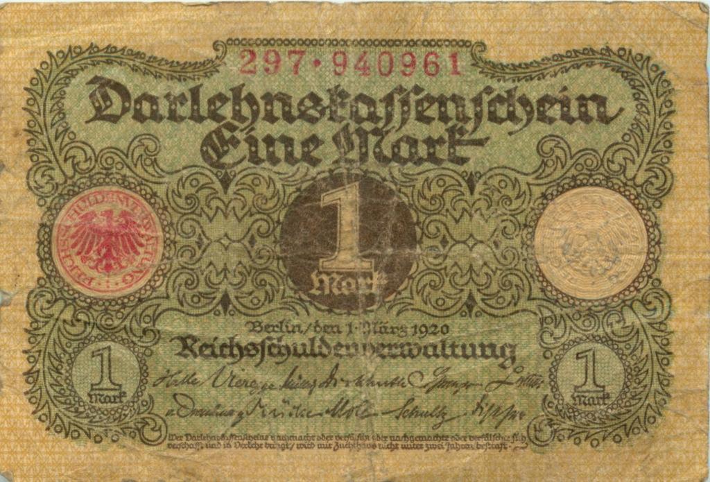 1 марка 1920 года (Германия)