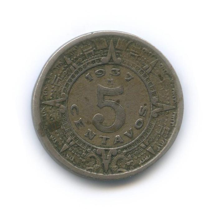 5 сентаво 1937 года (Мексика)