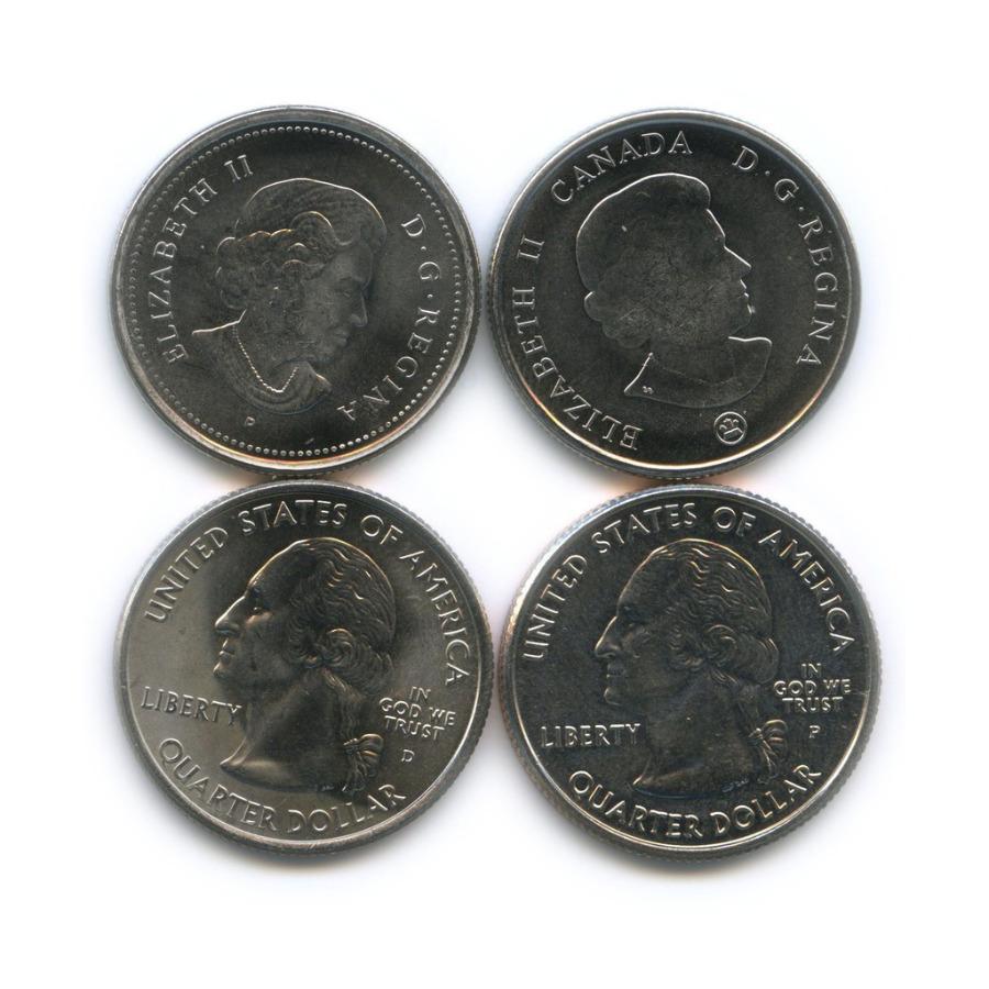 Набор юбилейных монет 25 центов (квотер), США иКанада