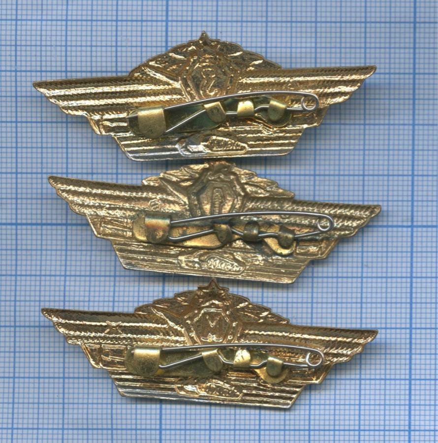Набор нагрудных знаков «Классность танкиста» (СССР)
