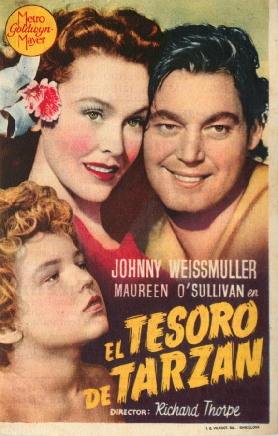 Реклама фильма «Тарзан» 1947 года (США)