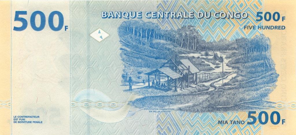 500 франков (Конго) 2002 года