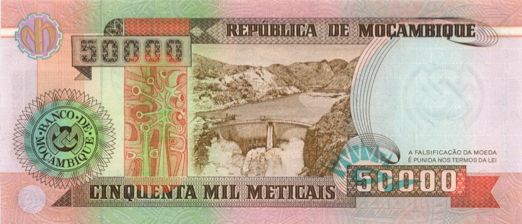 50000 метикалов (Мозамбик) 1993 года