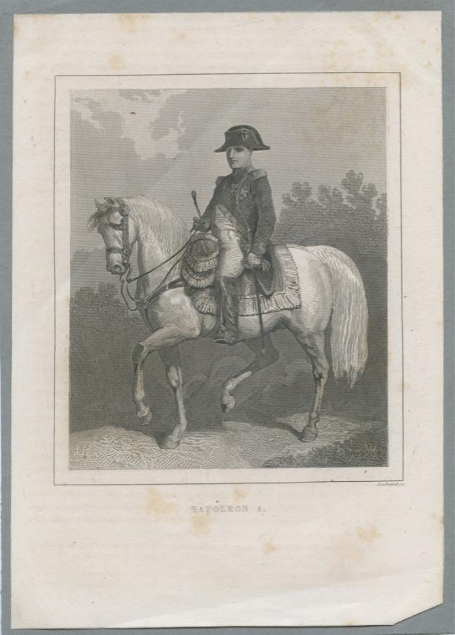 Гравюра «Наполеон I» (начало XIX века) (Франция)