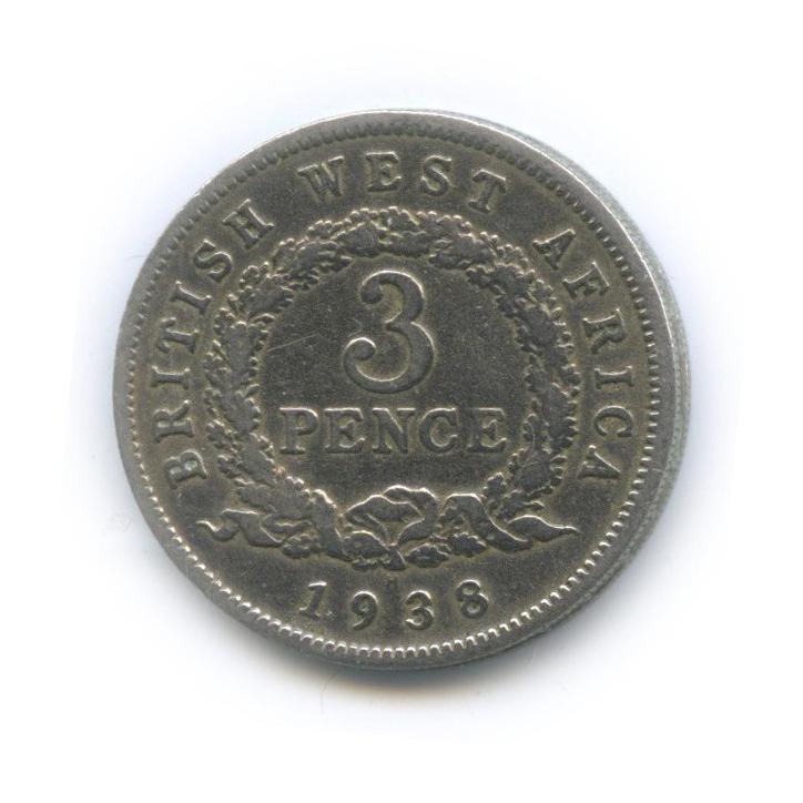 3 пенса, Британская Восточная Африка 1938 года