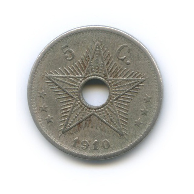 5 сантимов, Бельгийское Конго 1910 года
