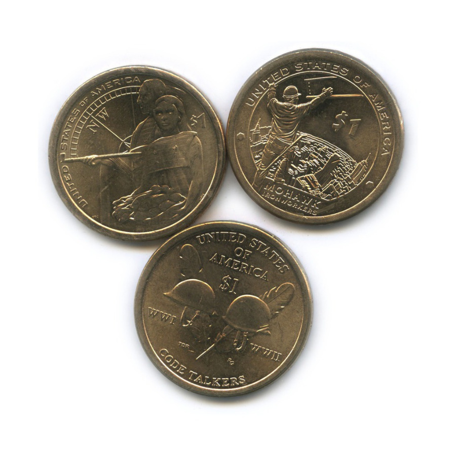 Набор монет 1 доллар - Коренные американцы 2014-2016 (США)