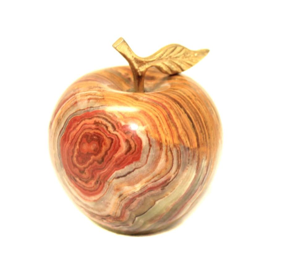 Часы «Яблоко» (оникс, 6 см) (Япония)