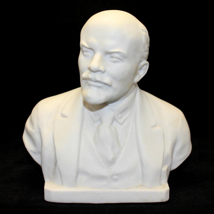 Бюст «В.И. Ленин» (Сычев, клеймо «ЛЗФИ», 50-е гг., трещины назатылке, 17 см) (СССР)