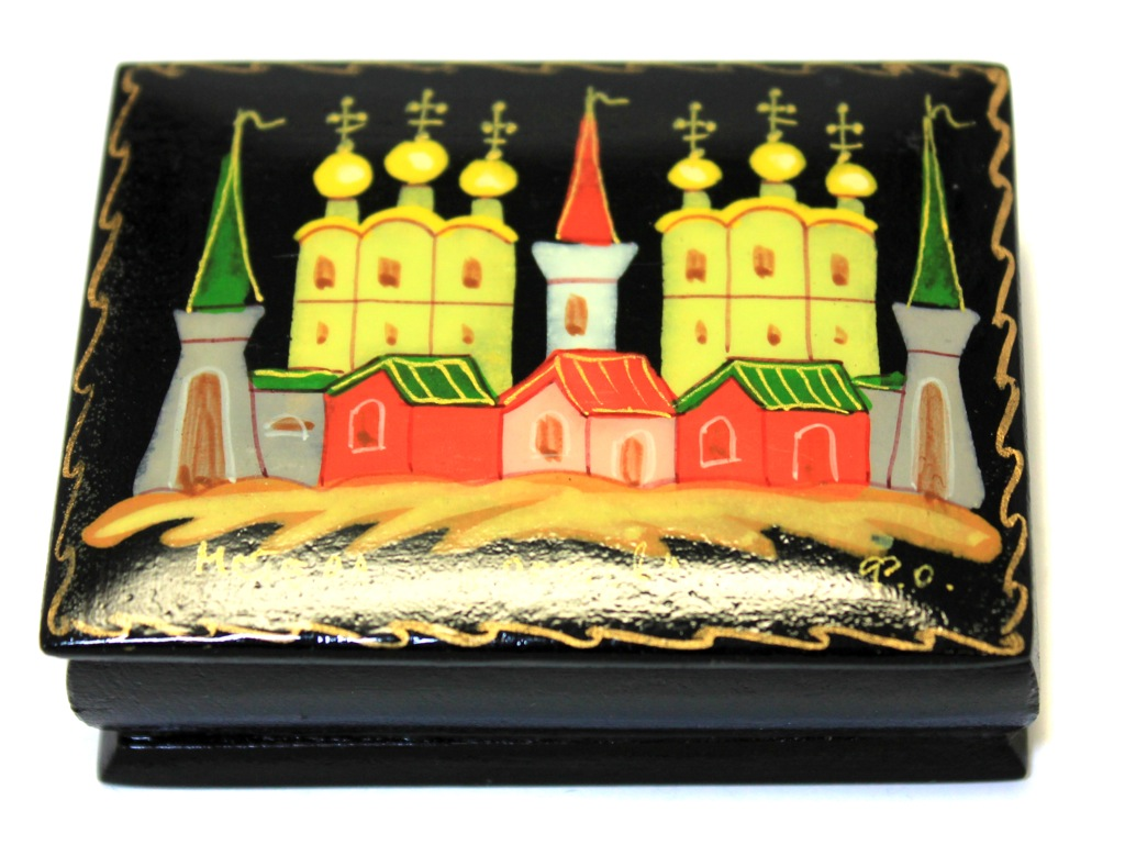 Шкатулка «Ростов» (поселок Мстёра, 7×5,3 см) (Россия)
