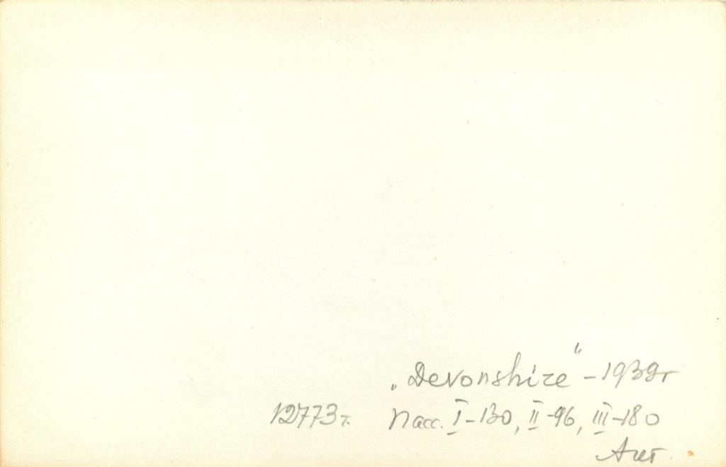 Фотография «Devonshire» 1939 года (СССР)