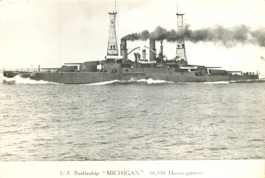 Фотография «U.S. Battleship «Michigan» (Российская Империя)