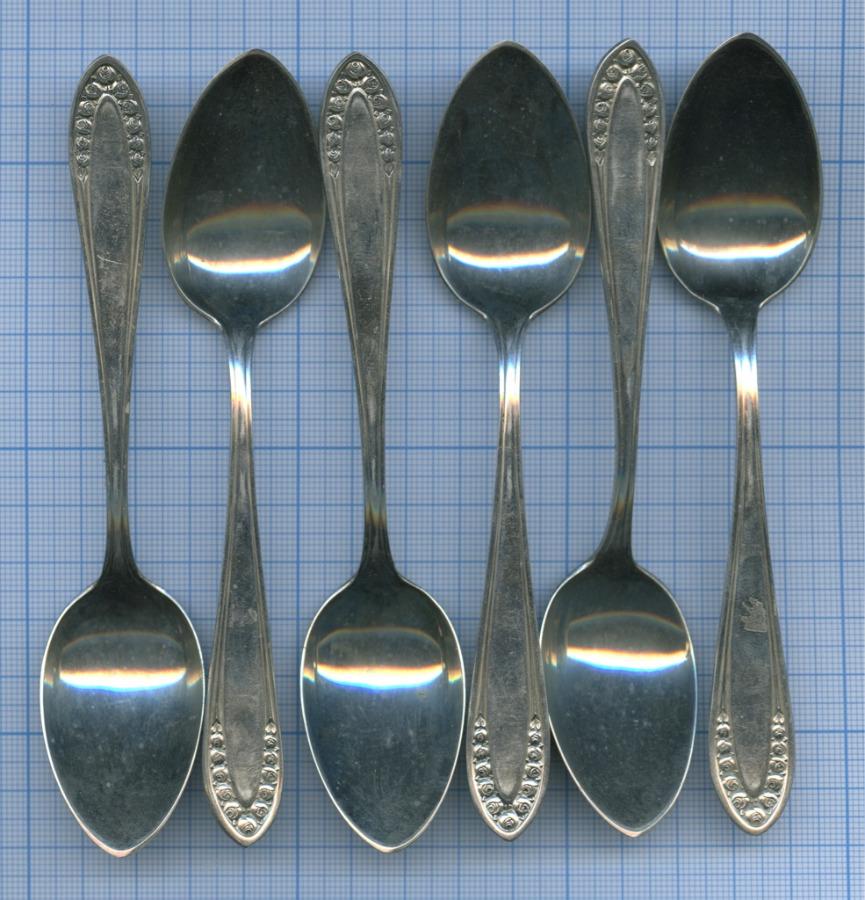 Набор чайных ложек (глубокое серебрение, клейма, ALPACCA, начало XX в.)