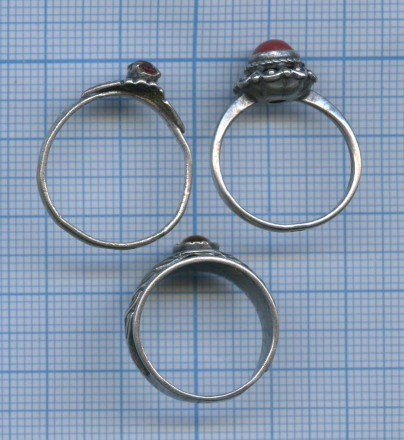 Набор колец (мельхиор, камни, клейма)