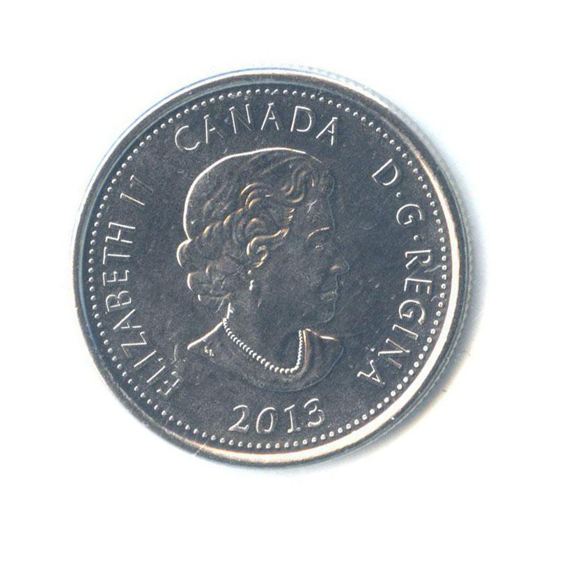 25 центов (квотер) — Война 1812 - Шарль деСалаберри, вцвете (в запайке) 2013 года (Канада)