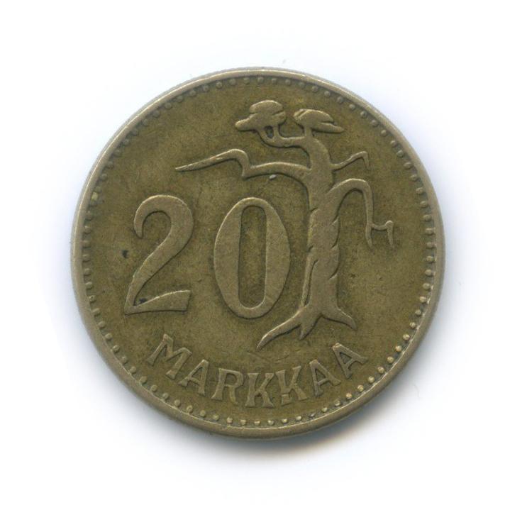 20 марок 1954 года (Финляндия)
