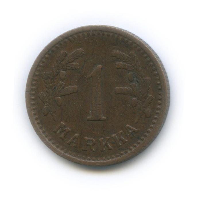 1 марка 1943 года Cu (Финляндия)