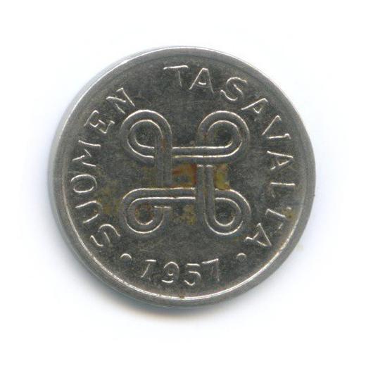 1 марка 1957 года (Финляндия)
