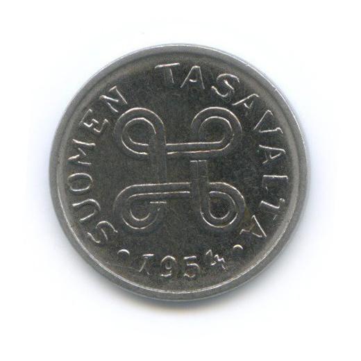 1 марка 1954 года (Финляндия)