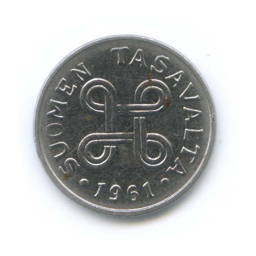 1 марка 1961 года (Финляндия)