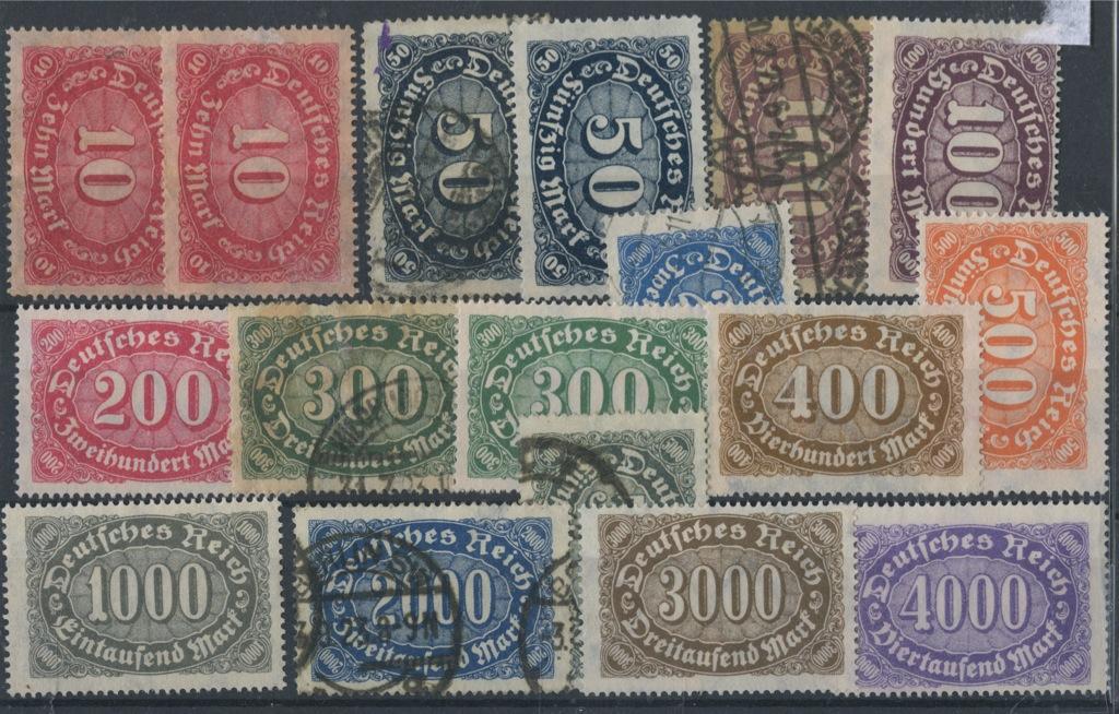 Набор почтовых марок 1922 года (Германия)
